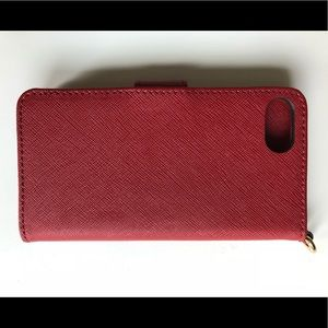 Michael Kors Accessories - Michael Kors iPhone Red Leather Folio Case